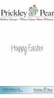Happy Easter - Red Rubber Stamp