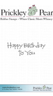Happy Birthday To You - Red Rubber Stamp