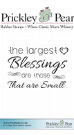 Largest Blessings - Red Rubber Stamp