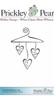 Love Hanger - Red Rubber Stamp