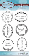 Scalloped Circle Oval 5 - Clear Stamp Set