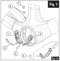 Look 695 2014 Cable Guide for Bottom Bracket