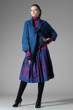 Draped Fine-knit Wool Cardigan