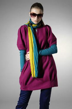 Fuchsia Oversized Woollen Tunic