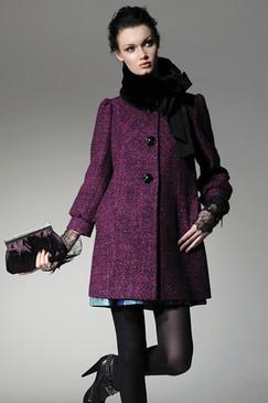 Dropped-waist Gabardine Coat