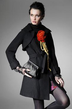 Charcoal Cashmere Felt Coat