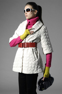 Vanilla Quilted Mid-season Coat