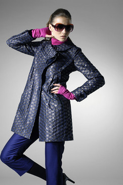 Shantung Silk-blend Coat