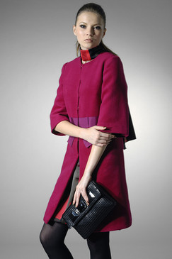 Colour-block Wool Coat
