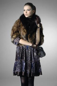 Layered Printed Silk-blend Dress