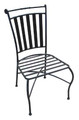 Pohara slatted steel chair (no arms)