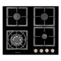 Parmco 600mm Black Glass Gas Hob