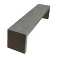 Fiber Cement 2m Outdoor Bench