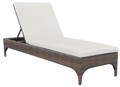 Eclipse II wicker lounger with cushion