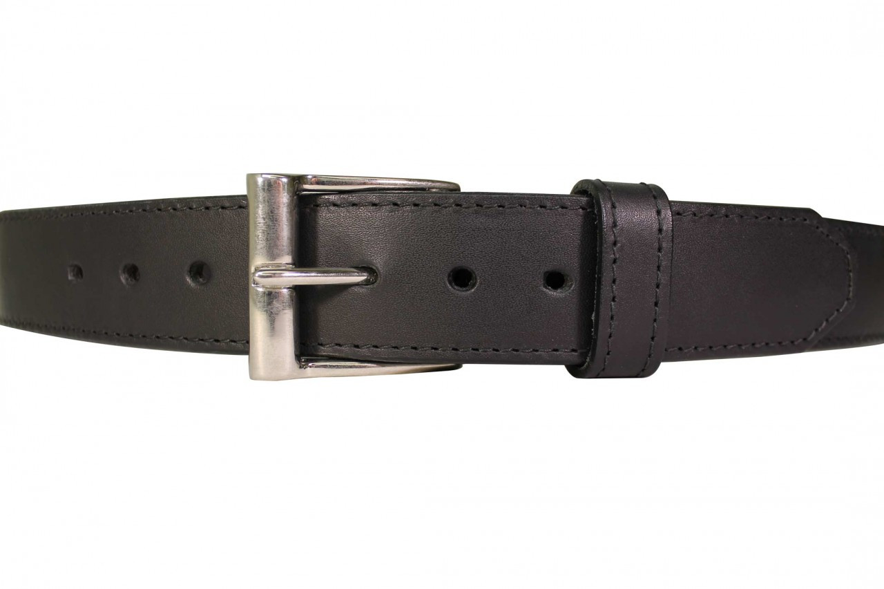 gun belt casual black leather