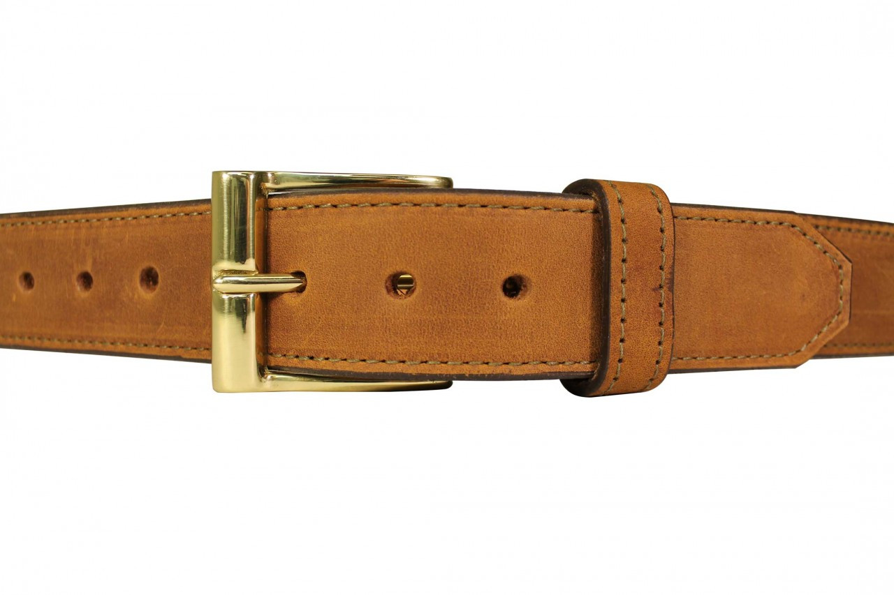 brown leather casual gun belt white hat holsters