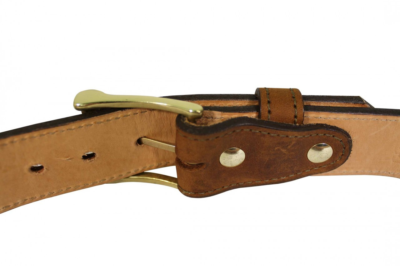casual brown leather gun belt