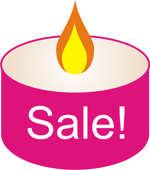 pink sale free candle graphic