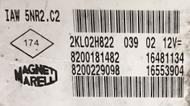 Renault Clio 1.2 16V, IAW 5NR2.C2, 8200181482, 8200229098, 16481134, 16553904