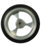 "Aluminium Soft Roll Caster 4"" x 1.5"", 5"" x 1.5"" and 6"" x 1.5"""