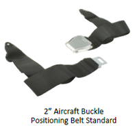 "2"" Aircraft Buckle Positioning Belt Standard"