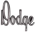 "Emblem Hood 70 Dart ""Dodge"" Except Dart GT"