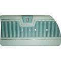 1964 Fury Bench Style Hdtp Rear Door Panel Dk. Met. Brown/Met. Fawn