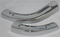 Bench Seat Hinge Covers 62-63 B Body Chrome