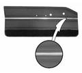1964 Dart GT Bucket Style Conv Rear Panels DK. Met. Brown