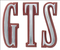 "Emblem Fender 68 Dart ""GTS"" in Red"