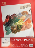 Canson Academy Canvas Paper Pad A3 - 250gsm - 10 sheets - CLEARANCE SALE!! While stocks last