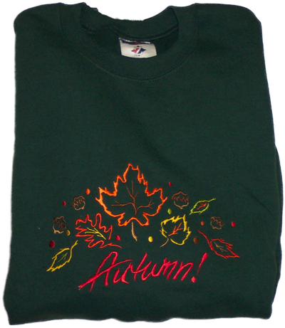 Fall Sweatshirt - Autumn Leaves Sample