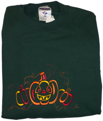 Fall Sweatshirt - Pumpkin Vine Sample