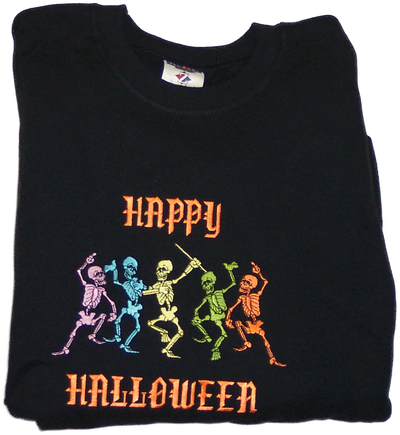 Halloween Sweatshirt - Halloween Skeletons Design