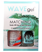 WaveGel Matching S/O Gel & Nail Lacquer - CAPRICIOUS ISLAND .5 oz W154