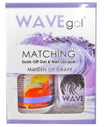 WaveGel Matching S/O Gel & Nail Lacquer - MAIDEN OF GRAPE .5 oz W155