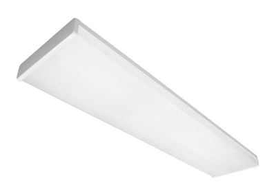 nicor lighting 4 ft dimmable led wraparound with prismatic acrylic lens in 3000k