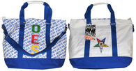 Order of the Eastern Star OES Canvas Bag-White/Blue