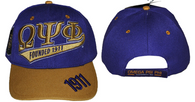 Omega Psi Phi Fraternity Two-Tone Founding Year Hat