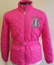 Alpha Kappa Alpha AKA Quilted Riding Jacket with Belt-Pink