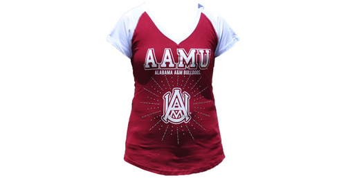 Alabama A&M University Rhinestone T-Shirt