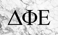 Delta Phi Epsilon DPHIE Sorority Flag- Marble
