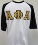 Alpha Phi Alpha Fraternity Baseball Shirt-White