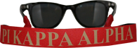 Pi Kappa Alpha PIKE Fraternity Sunglass Staps