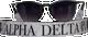 Alpha Delta Pi ADPI Sorority Sunglass Straps- Marble