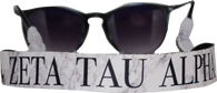 Zeta Tau Alpha ZTA Sorority Sunglass Straps- Marble