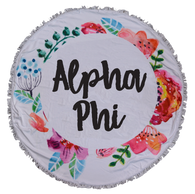 Alpha Phi Sorority Towel Blanket