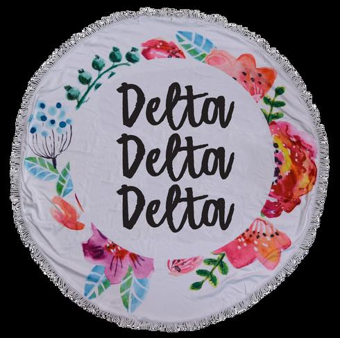 Delta Delta Delta Tri-Delta Sorority Towel Blanket