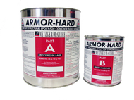 Armor-Hard Early Set Structural Epoxy Liquid- Metzger/ McGuire 1 Gallon Unit