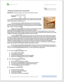 Grade 7 - Page 1 - Read Theory Workbooks
